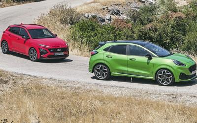 Δοκιμή Hyundai Kona N Line Vs Ford Puma ST: Τα SUV… τρελάθηκαν!